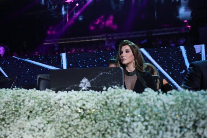 نانسي-عجرم-في-مسابقة-ملكة-جمال-لبنان-2018