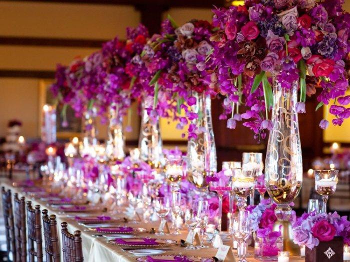 ورود بنفسجي لحفلات الزفاف