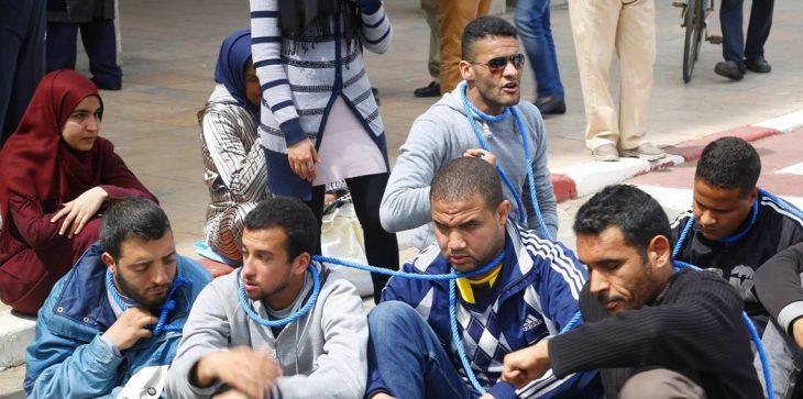 بالفيديو.. مصرع كفيف مغربي إثر سقوطه من أعلى مبنى وزارة التضامن