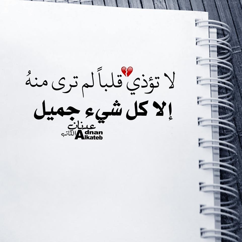 لا تؤذي قلبا لم ترى منه إلا كل شئ جميل