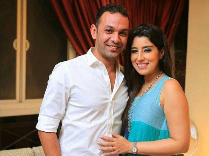 آيتن-عامر-مع-زوجها-محمد-عز-العرب
