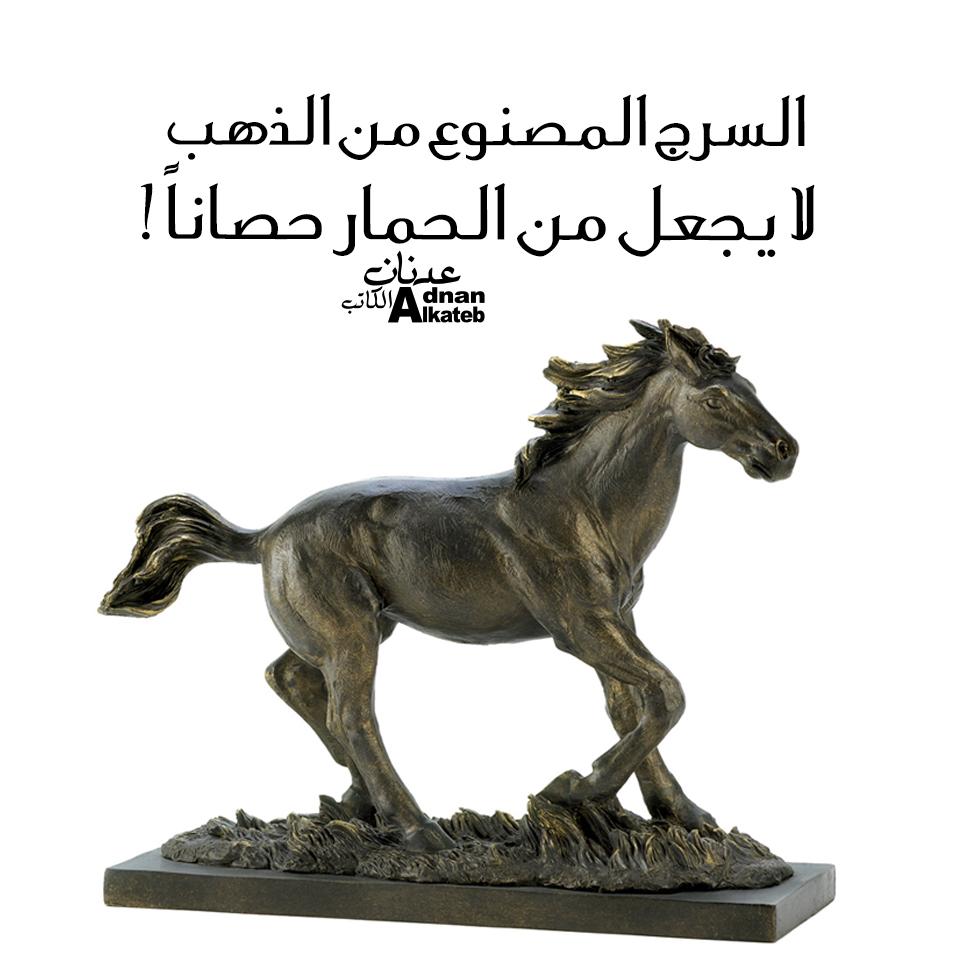 السرج المصنوع من الذهب لا يجعل من الحمار حصانا