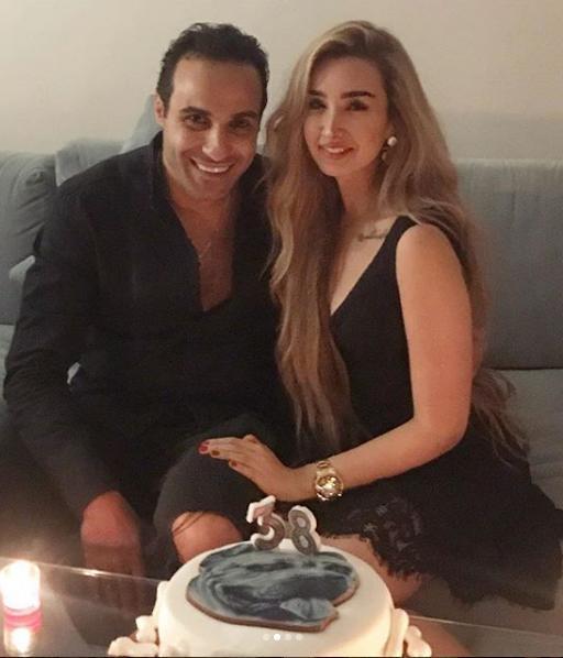 هنا-الزاهد-تحتفل-بعيد-ميلاد-أحمد-فهمي