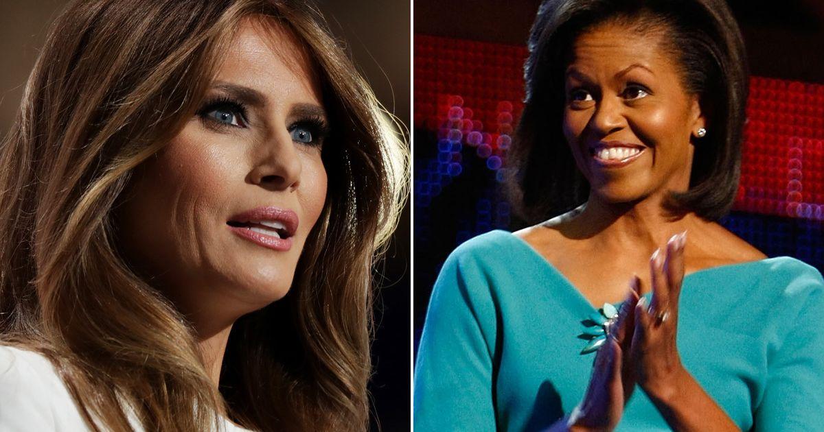 ميشيل أوباما تهاجم خليفتها ميلانيا ترامب لأول مرة.. فما السبب؟!