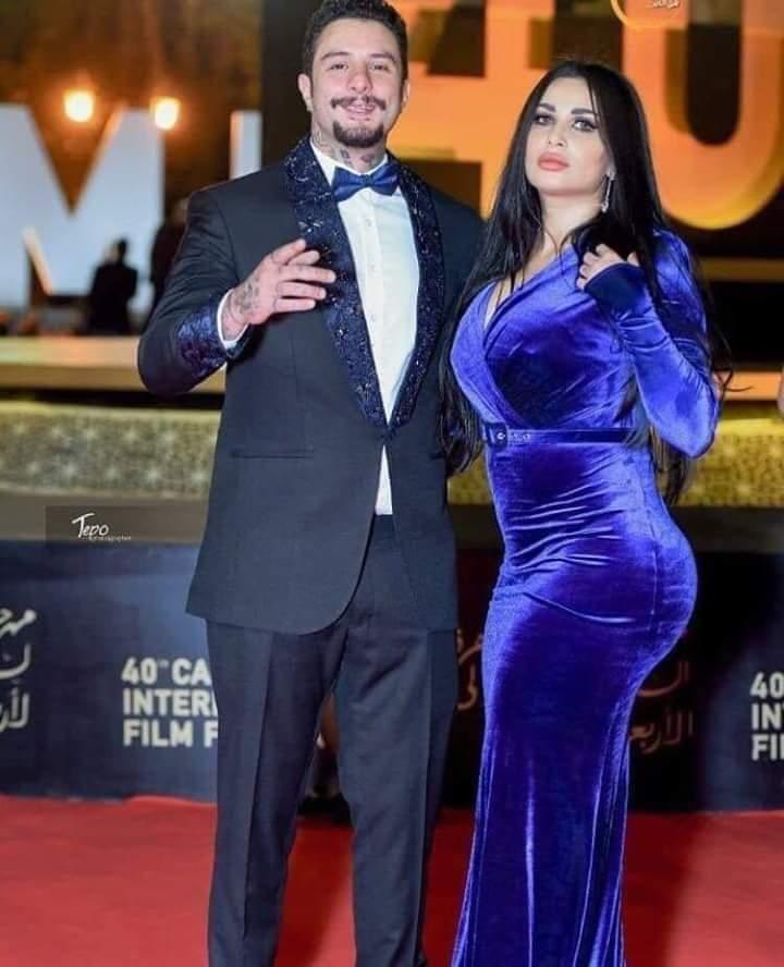 زوجة أحمد الفيشاوي ندى الكامل