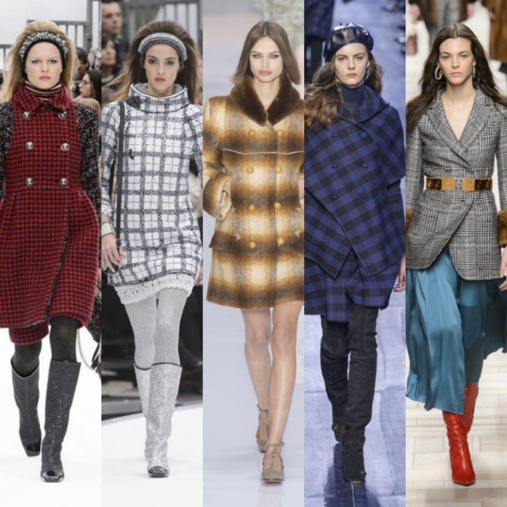 الملابس بنقشة المربعات احدث صيحة في شتاء 2019