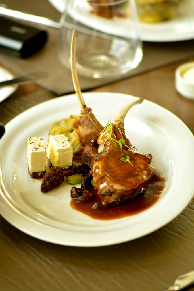 Lamb rack with date butter by Chef Ahmad