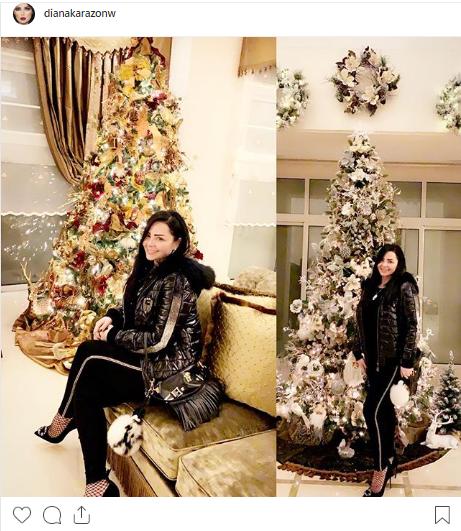 ديانا-كرزون-تنشر-صورة-بمناسبة-الكريسماس