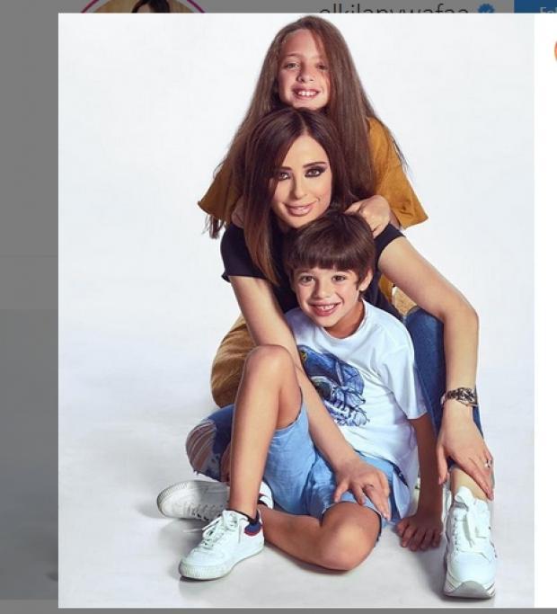 وفاء الكيلاني مع أبنائها