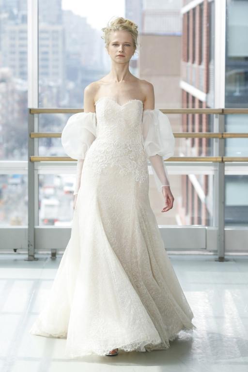 فستان-زفاف-بالاكمام-المنفوخة