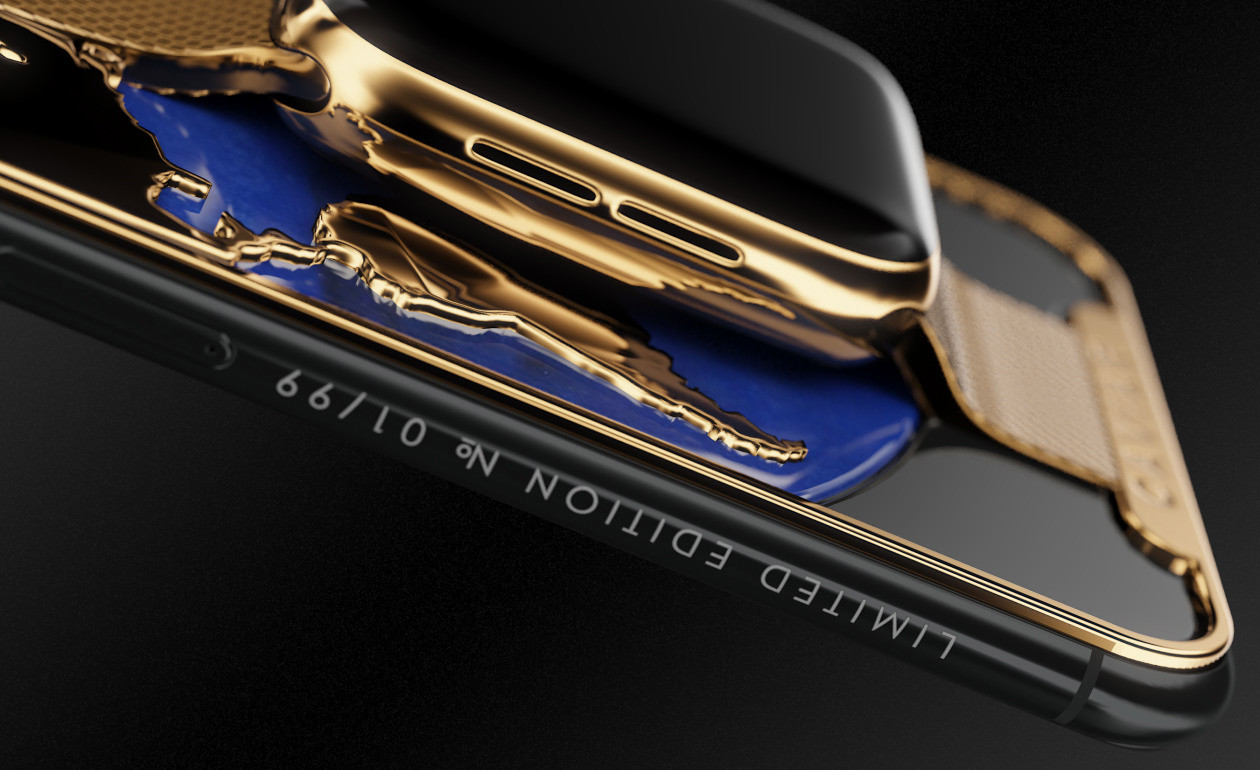 شركة كافيار الروسية تطرح أول هاتف ذهبي مدمج بساعة ذكية