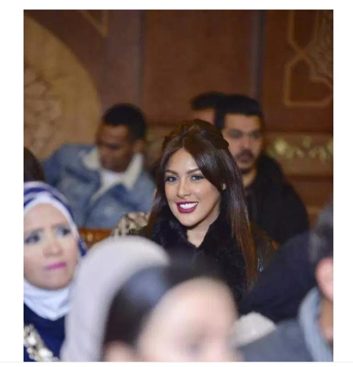 نرمين ماهر في عقد قران شقيقه دنيا المصري