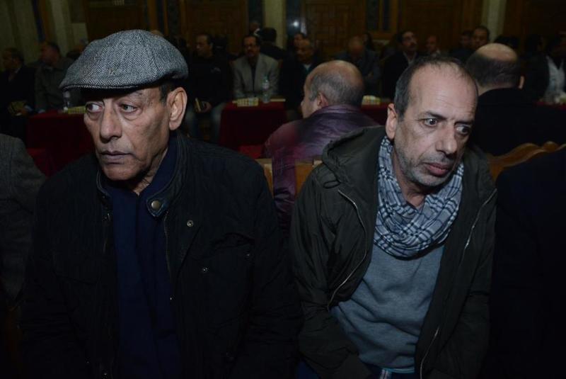 احمد-بدير-ومحمد-الصاوي-في-واجب-عزاء-سعيد-عبدالغني