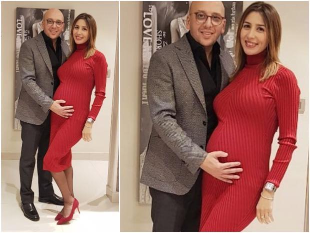 جنات-بفستان-احمر-ضيق-يكشف-عن-تغير-قوامها-بعد-الحمل