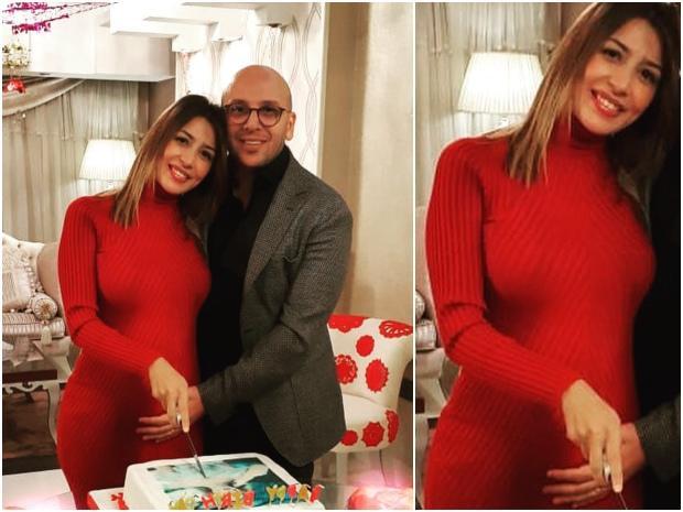 جنات-تحتفل-مع-زوجها-بعيد-ميلادها