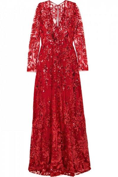 فستان-احمر-بالتول-المشكوك-بالترتر