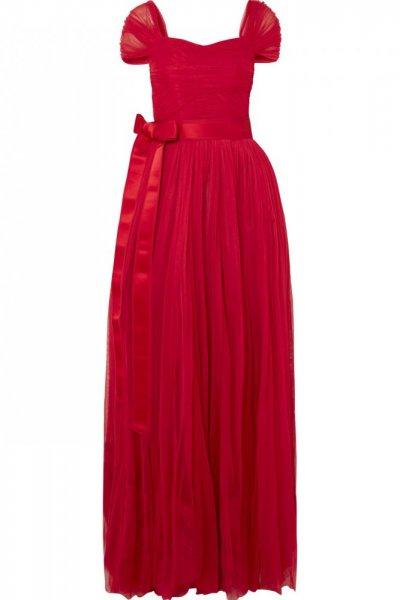 فستان-الحرير-مع-حزام