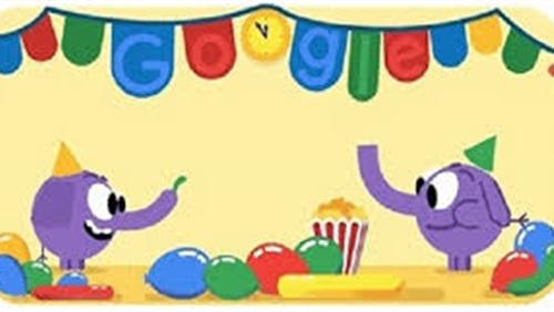 شعار جوجل في رأس السنة