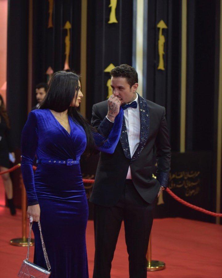 أحمد الفشاوي وزوجته ندى كامل