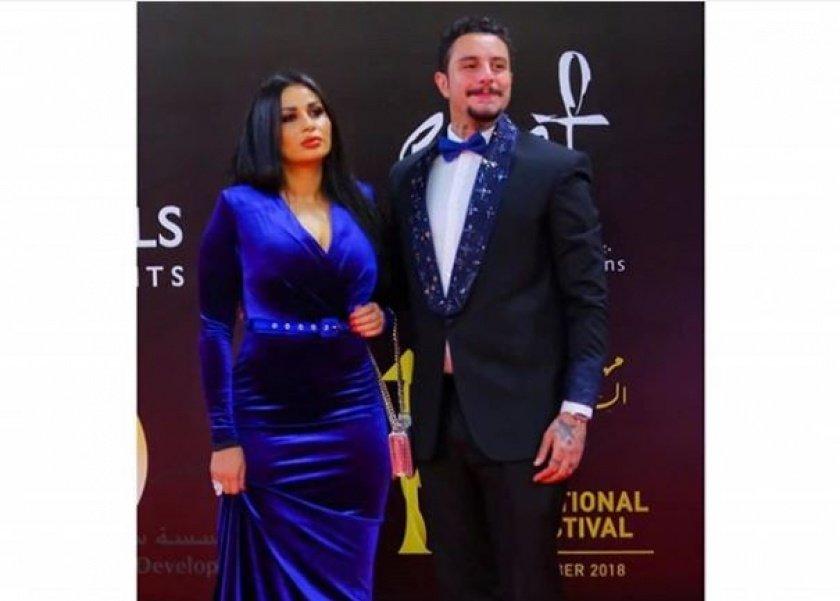 أحمد الفشاوي وزوجته