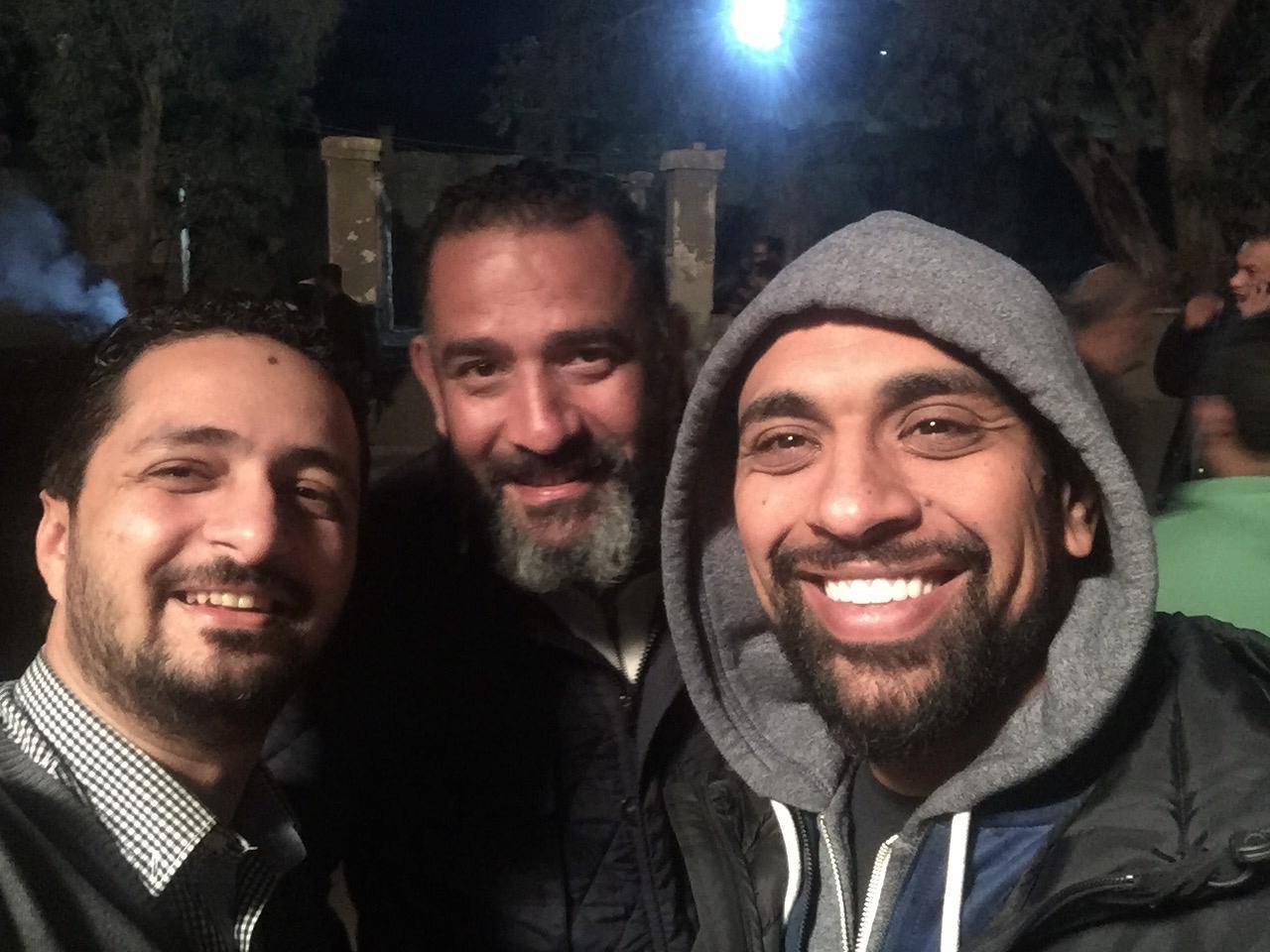 المخرج-حسام-على-والمؤلف-أمين-جمال-والمنتج-الفنى-هانى-عبد-الله