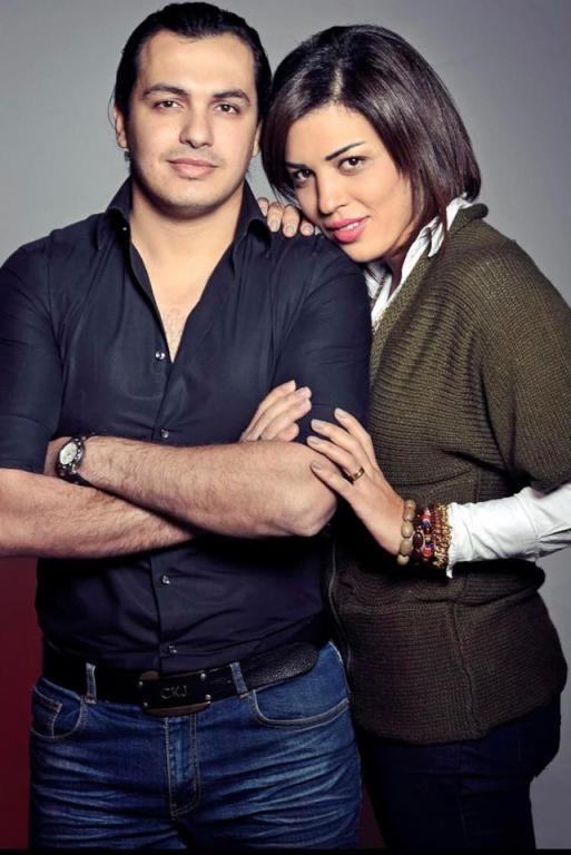 الموزع أحمد إبراهيم وزوجته ياسمين