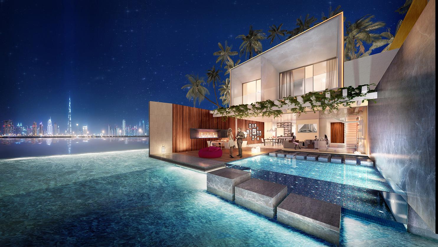 لأول مرة في العالم.. دبي تبني فيلات عائمة على الماء (صور)