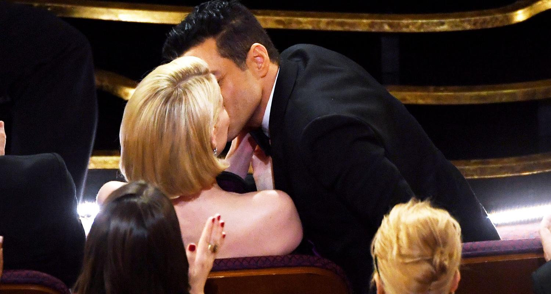 قبلة رامي مالك لحبيبته