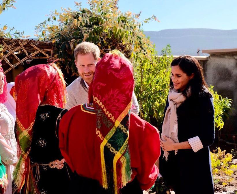 -لحظة-وصول-دوق-ودوقة-ساسكس-إلى-السكن-الداخلى-فى-المغرب