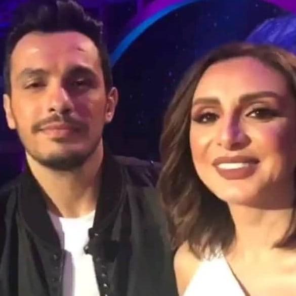 أنغام وزوجها الموزع الموسيقي احمد ابراهيم