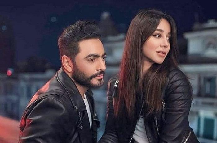 اسيل عمران و تامر حسني في كليب ناسيني ليه