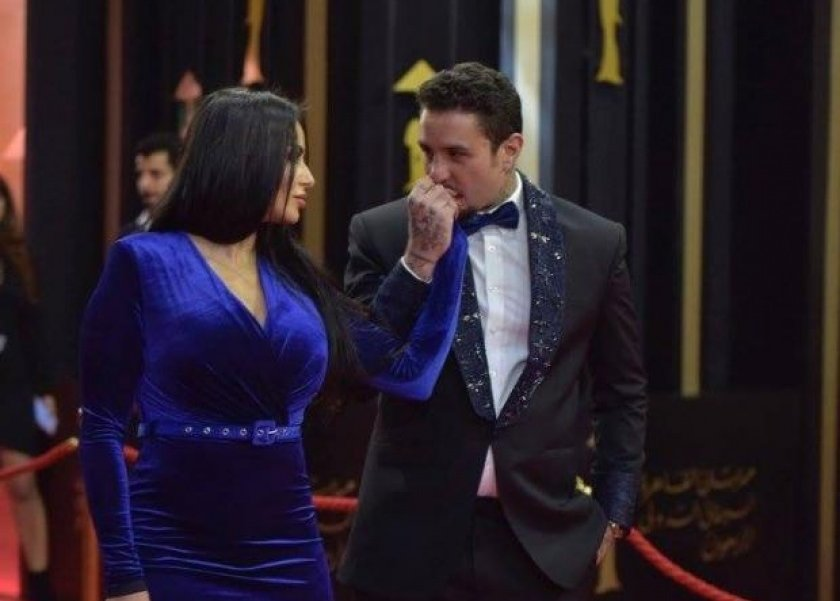 احمد الفيشاوي وزوجته نادية كامل