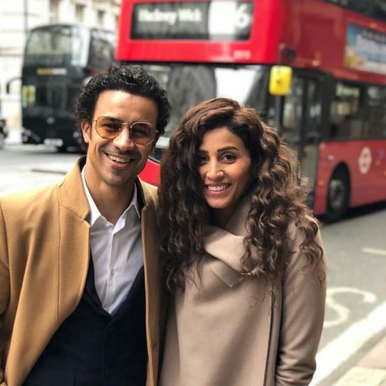 دينا الشربيني واحمد داوود في مشهد من مسلسل زي الشمس رمضان 2019