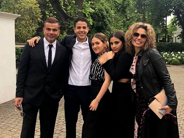 عائلة النجم عمرو دياب