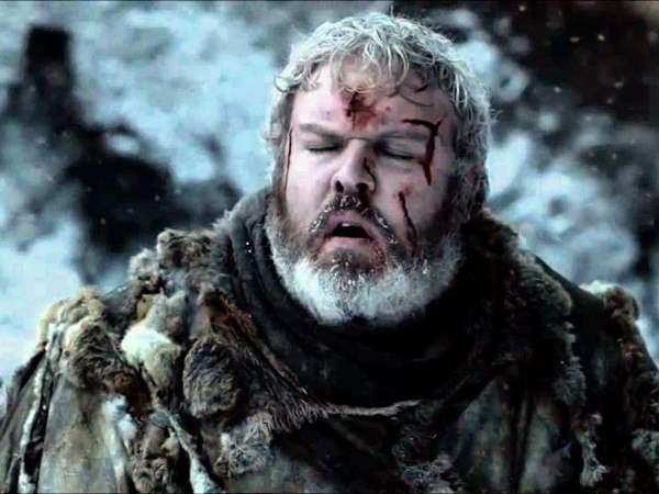 لحظة موت هودور في مسلسل Game of thrones