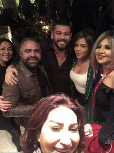 ناهد-السباعي-ومحمد-شاهين-من-زفاف-ريهام-حجاج