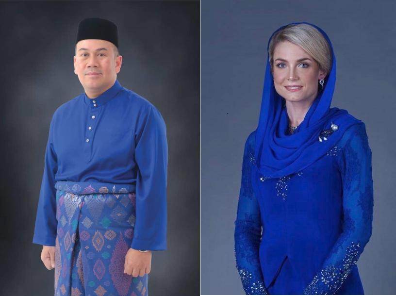 بالصور.. زواج ولي العهد الماليزي من امرأة أجنبية أعلنت إسلامها !