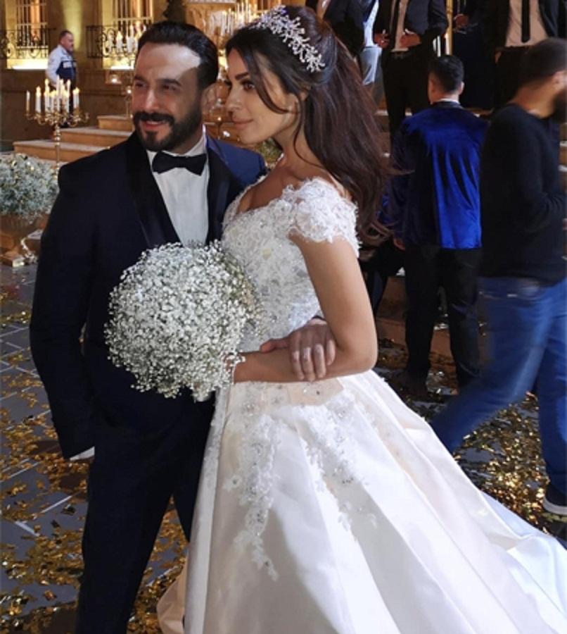 مشهد-زفاف-قصي-خولي-و-نادين-نجيم-في-مسلسل-خمسة-ونص- (2)