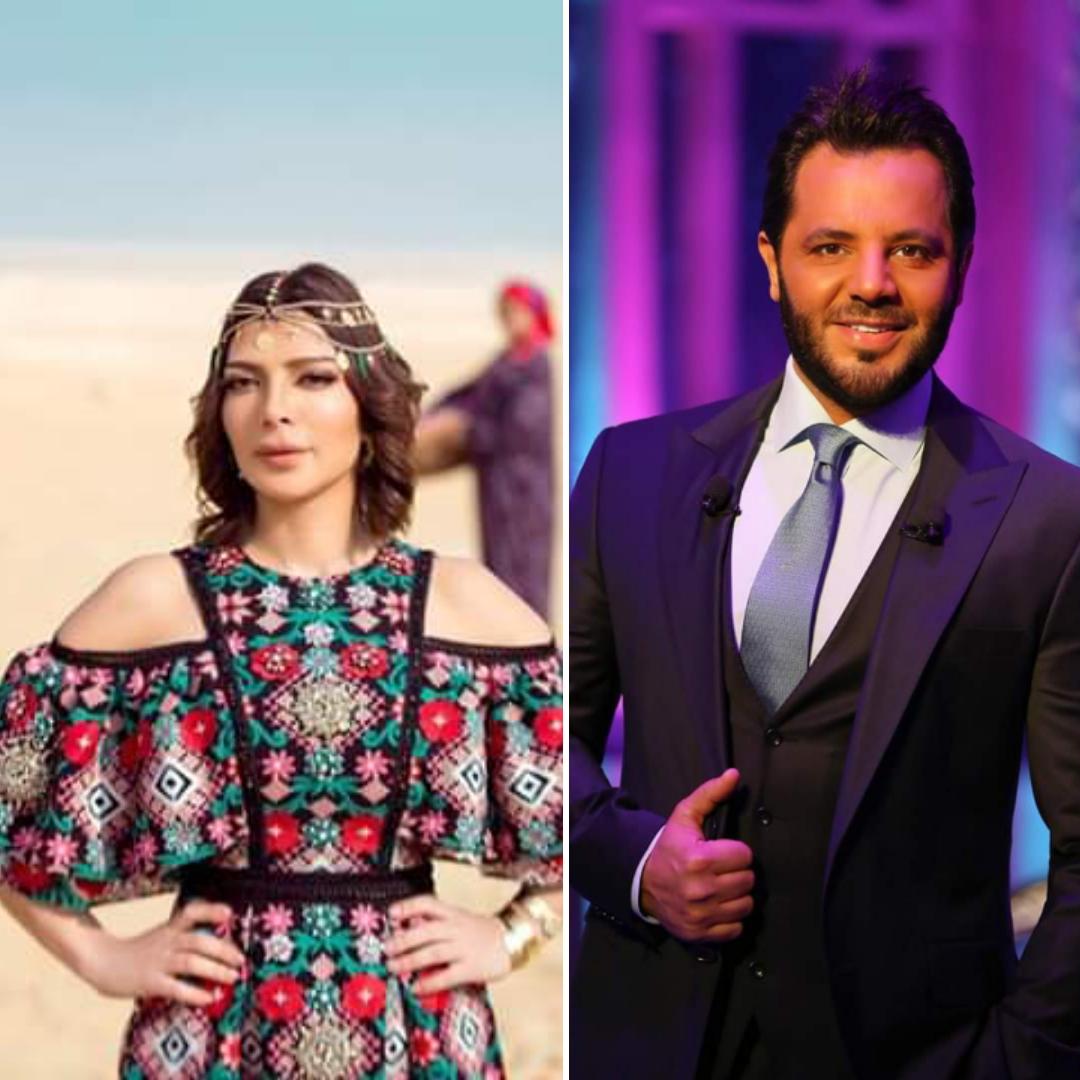الإعلامي اللبناني نيشان مع النجمة السورية أصالة نصري