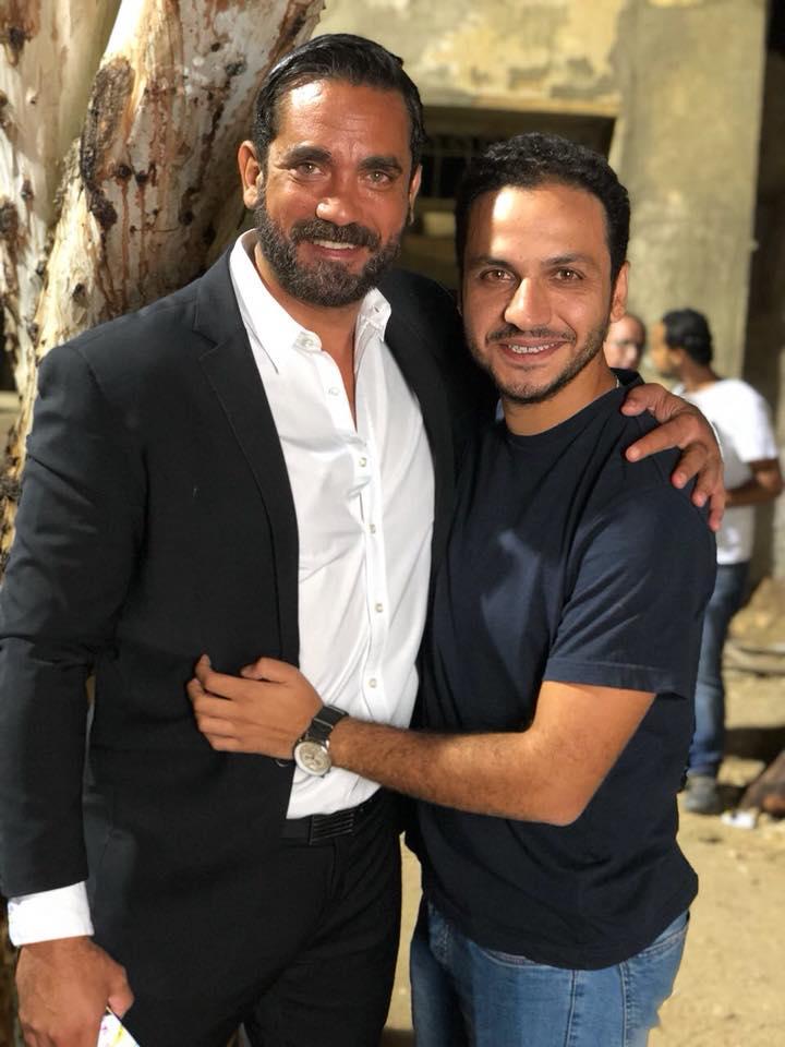 المخرج بيتر ميمي مع أمير كرارة