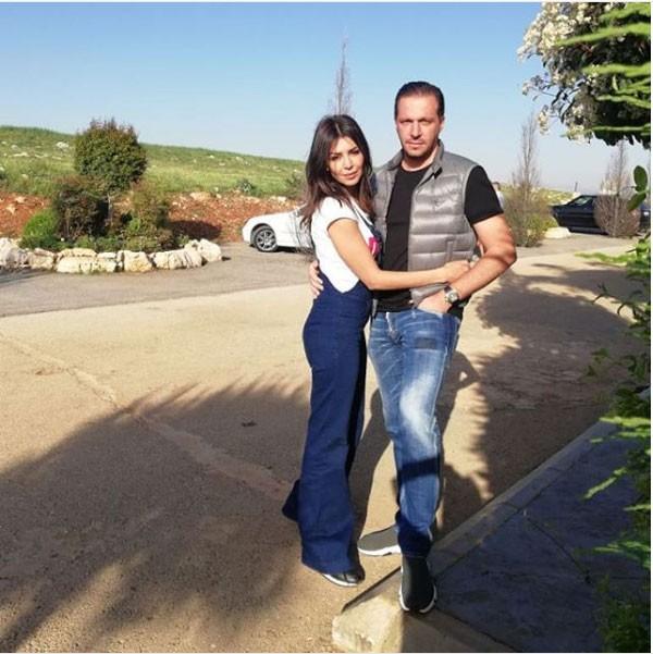 صور-أمل-بوشوشة-مع-زوجها-وليد-عواضة