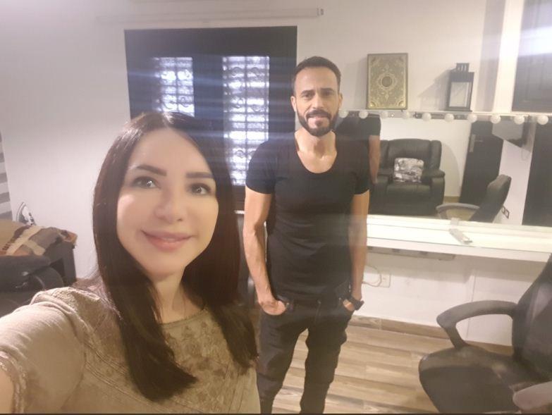 يوسف-الشريف-مع-زوجته-انجي-علاء- - (1)