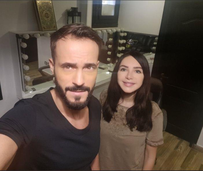 يوسف-الشريف-مع-زوجته-انجي-علاء- - (2)