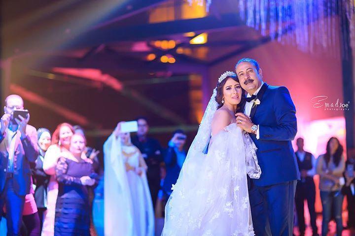 صورة من زفاف سناء يوسف وعمرو مكين