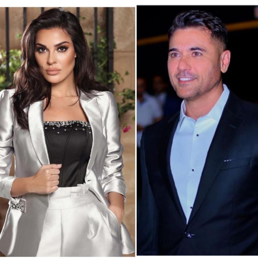 النجم أحمد عز مع النجمة اللبنانية نادين نجيم