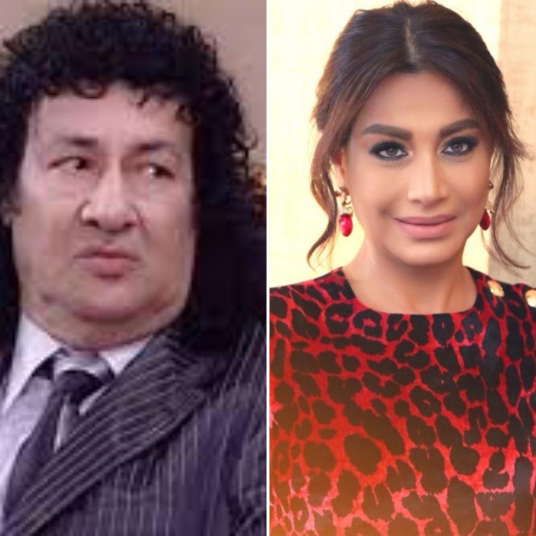 الإعلامية المصرية بسمة وهبة والنجم الراحل محمد نجم