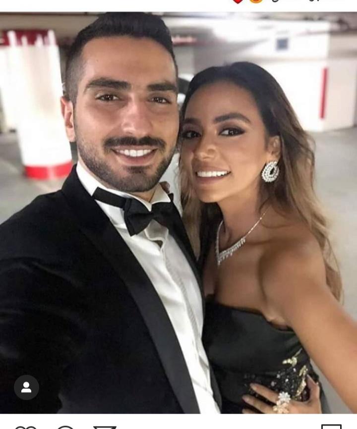 محمد الشرنوبي مع خطيبته المنتجة سارة الطباخ