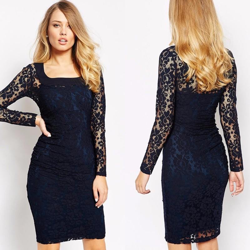 الفساتين الدانتيل القصيرة تبرز أنوثة المرأة