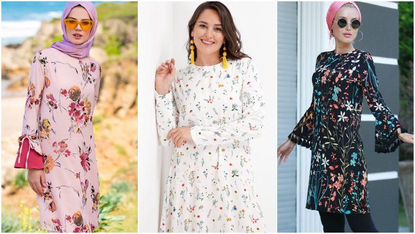 الفساتين المشجرة موضة 2018 و 2019