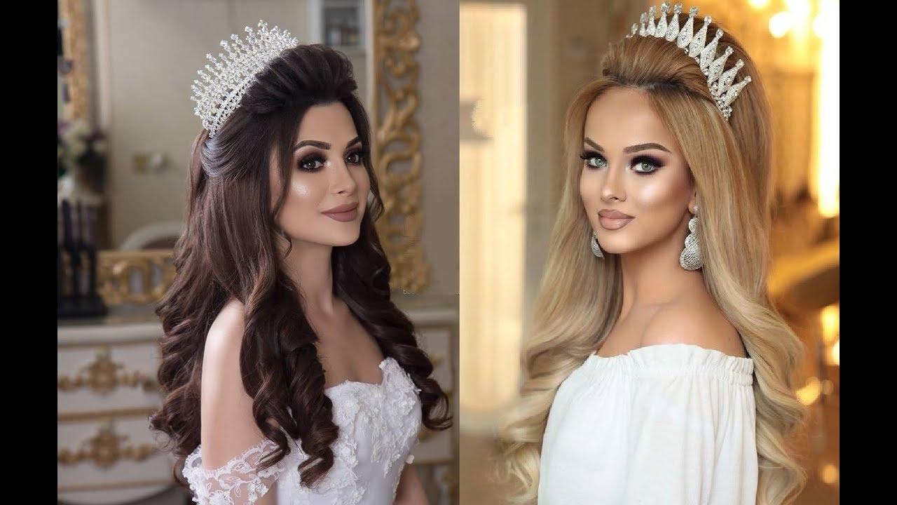 تسريحات شعر مميزة بالتاج لعروس 2019